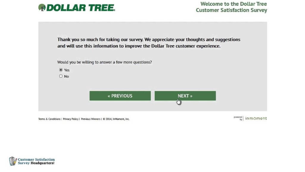 Dollartreefeedback.com survey