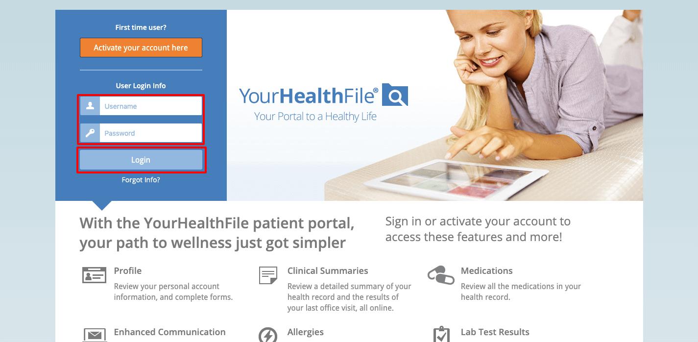 Healthfusion.com login