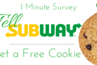 Tellsubway.com [Free Food, One minute Survey]
