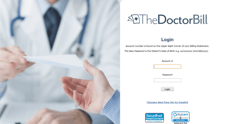 Thedoctorbill.com Login