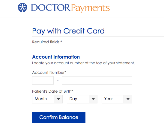 my doctor payment pay with credit card