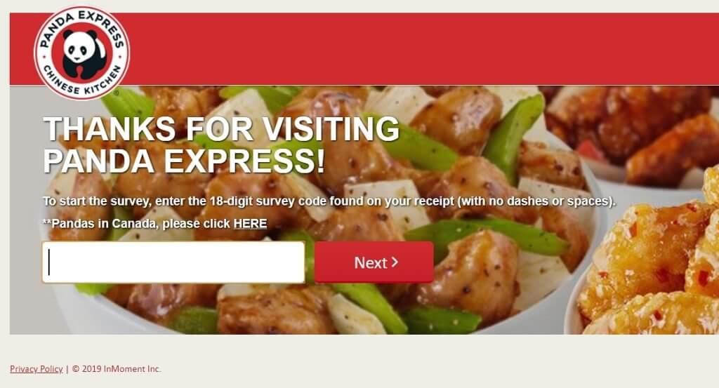 pandaexpress-com-homepage feedback coupon