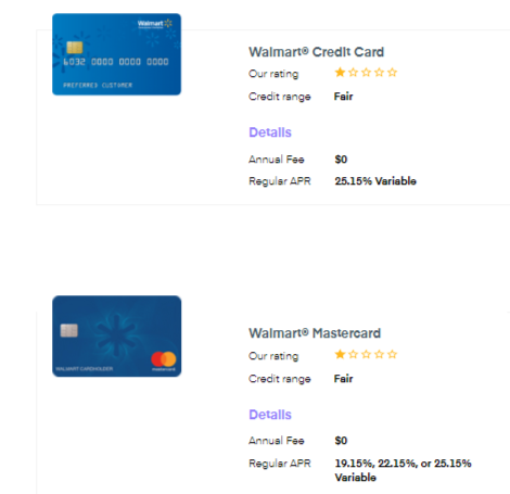 Walmart cards fees