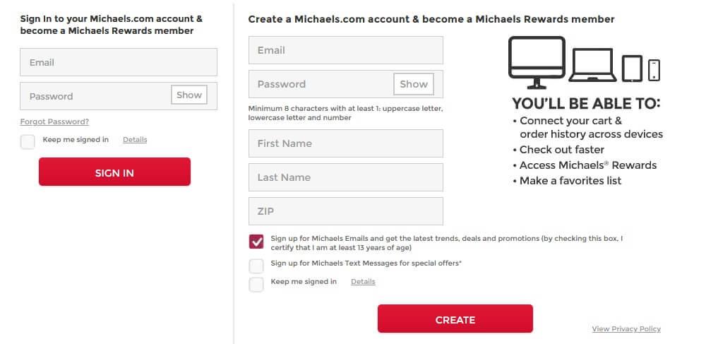 Michaels worksmart [Login, Password Reset]