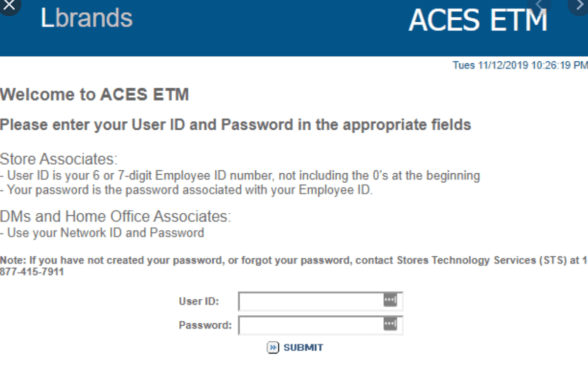 Aces Etm Associate Resources Limited Brands Portal Login