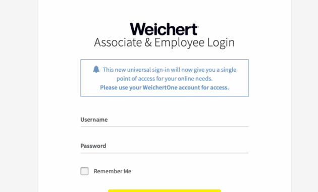 Weichertone Login Process
