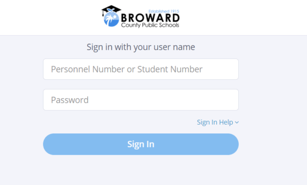 Broward SSO Login