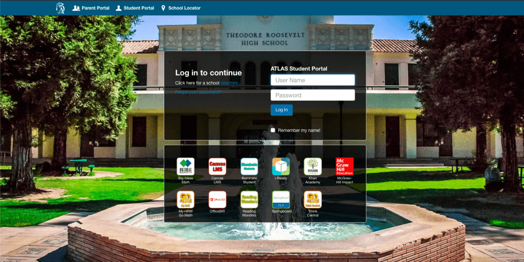 FUSD Atlas Fresno Unified Student and Parent Login