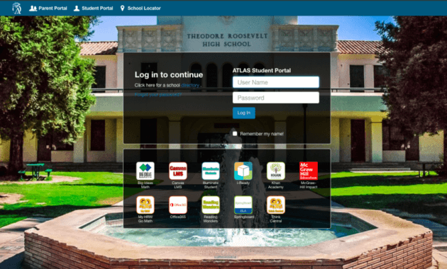 Fresno unified atlas Student Login