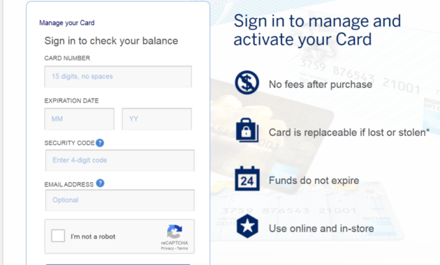 How to Activate American Express Gift Card