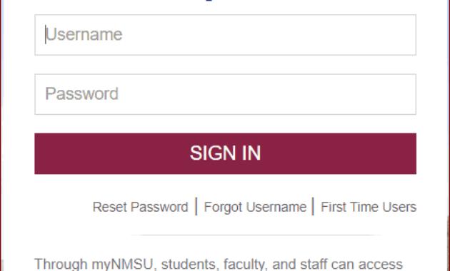 MYNMSU Sign in