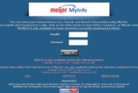 Meijer Myinfo Login Portal for Employees