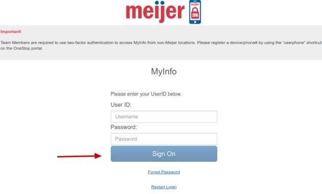 Meijer Myinfo Login Process