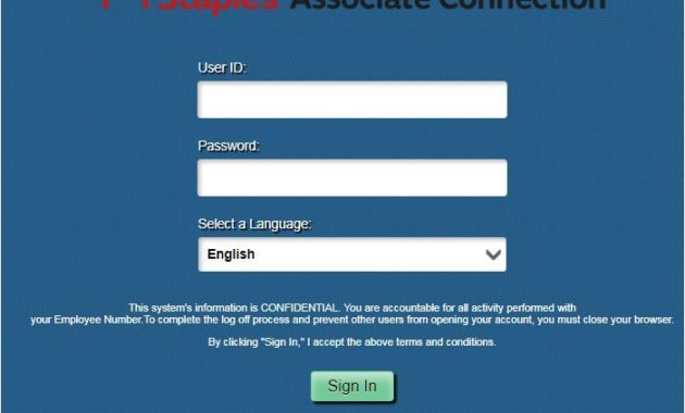 Staples Associate Connection Login Procedure