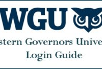 WGU Student Portal Login from PC