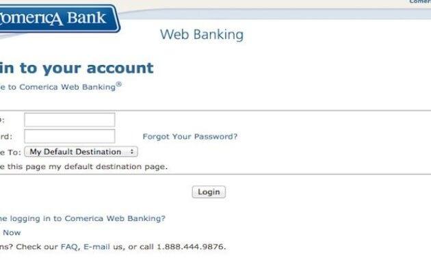 Comerica Bank Login process