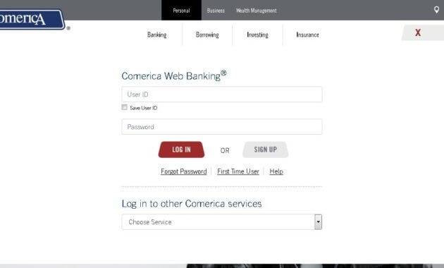 Comerica sign up process