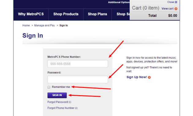 Metro PCS Bill Payment Login